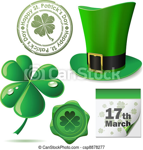 St. Patricks Day symbols vector se - csp8878277