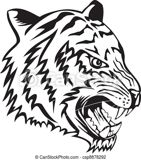 Illustration vecteur de t te tigre vector illustration t te tigre csp8878292 recherchez - Tete de tigre dessin facile ...