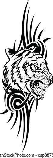 tiger with patterns - csp8878341