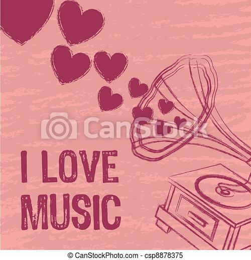 i love music - csp8878375