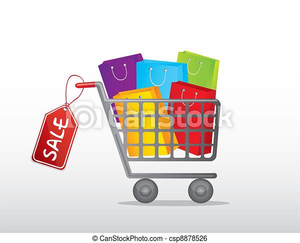 shopping cart - csp8878526