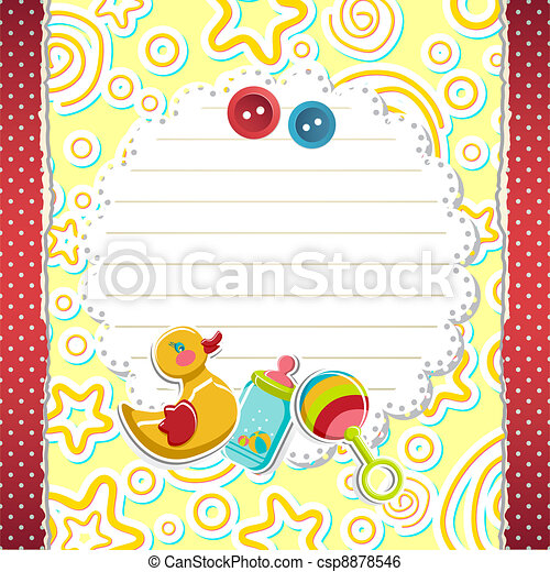 Baby Arrival Card - csp8878546