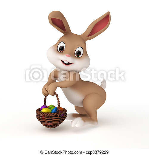Easter bunny - csp8879229
