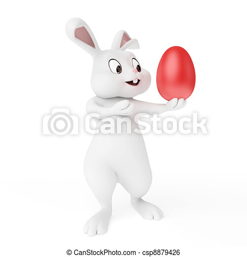 Easter bunny - csp8879426