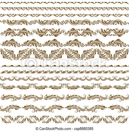 Horizontal elements decoration vector - csp8880385