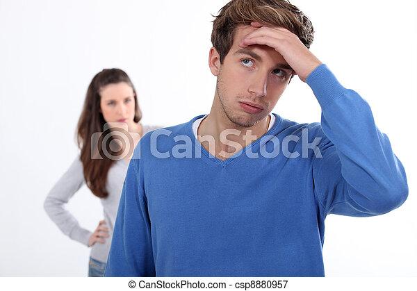 Couple having an argument - csp8880957