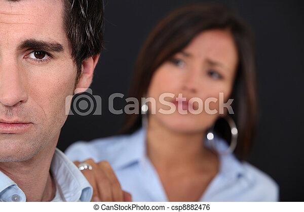 Couple having a disagreement - csp8882476