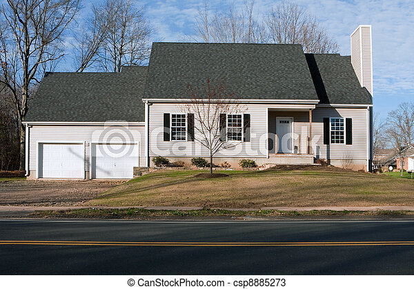 Newly Constructed House with Two Car Garage - csp8885273