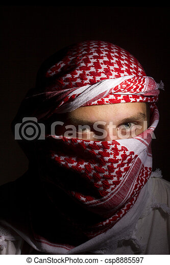 Man in a Keffiyeh - csp8885597