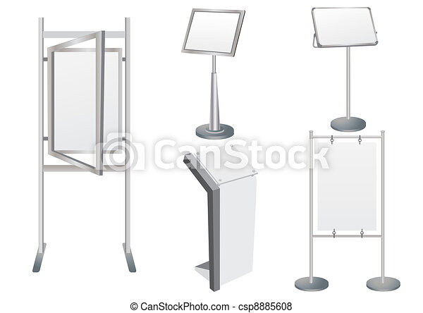 Blank Promotion Stand set - csp8885608