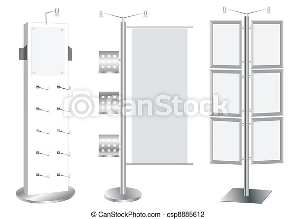 Blank Promotion Stand set - csp8885612
