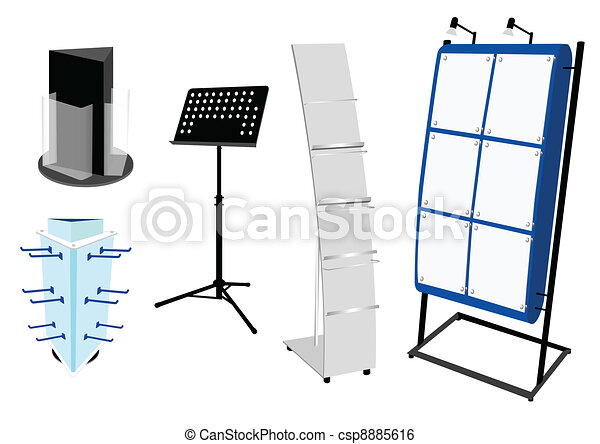 Blank Promotion Stand set - csp8885616