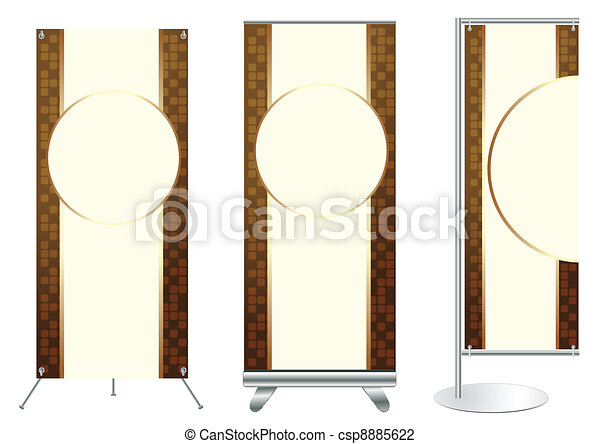 Vector Banner Stand Display