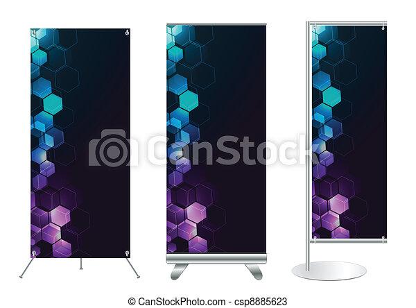 Vector banner stand display  - csp8885623