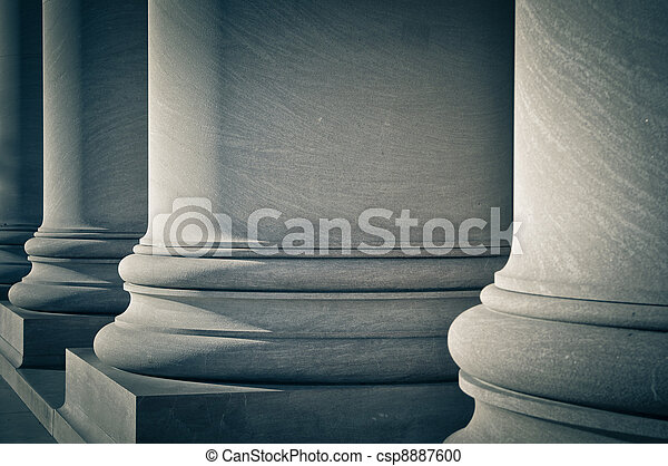 Pillars of Law, Education and Government - csp8887600