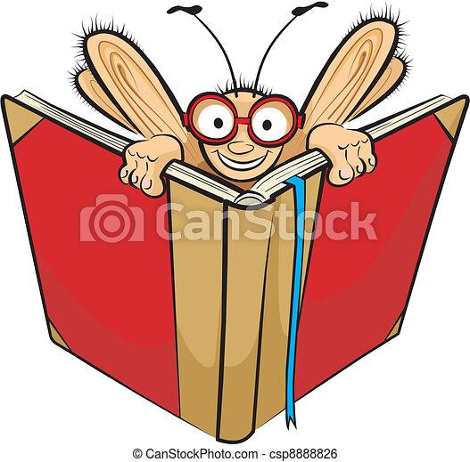 Bücherwurm clipart  Clip Art Vektor von buch, bücherwurm - Learning, gleichfalls, der ...