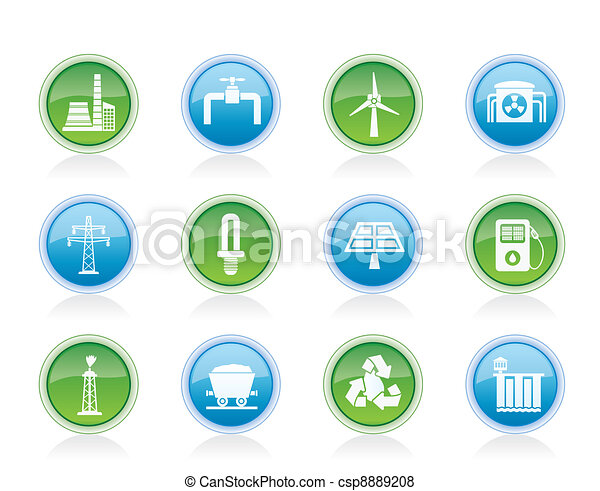 Power and electricity industry icon - csp8889208