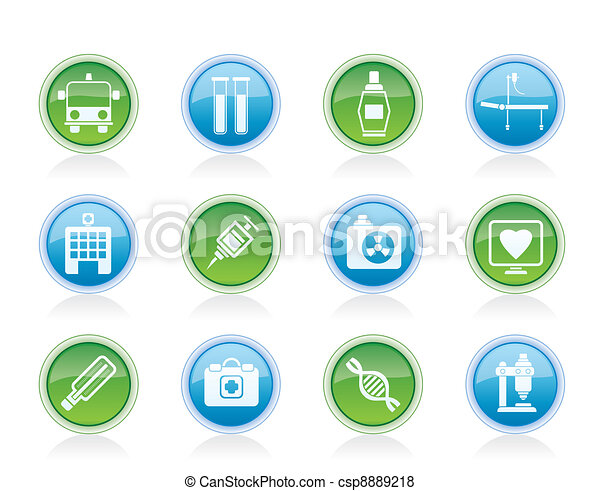 Medicine and healthcare icons - csp8889218