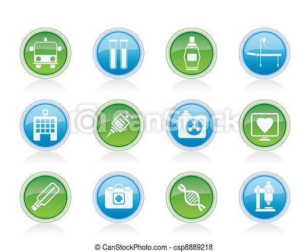 Medicine and healthcare icons  - csp8889218