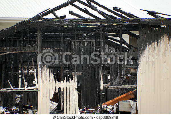 Fire Damaged - csp8889249