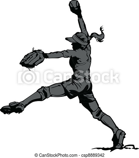 Fast Pitch Softball Pitcher - csp8889342