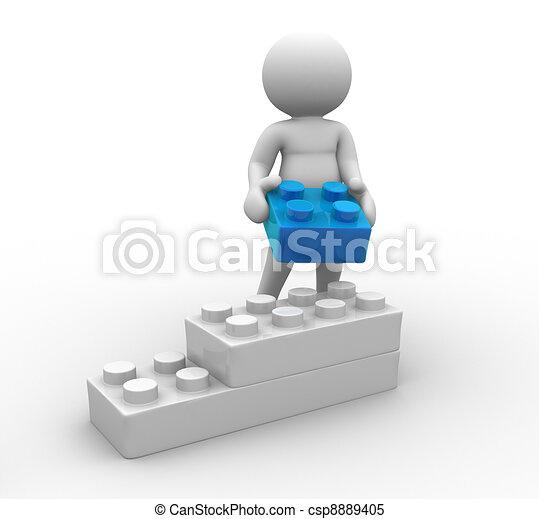 Toys bricks - csp8889405