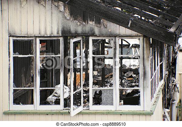 Fire Damaged - csp8889510