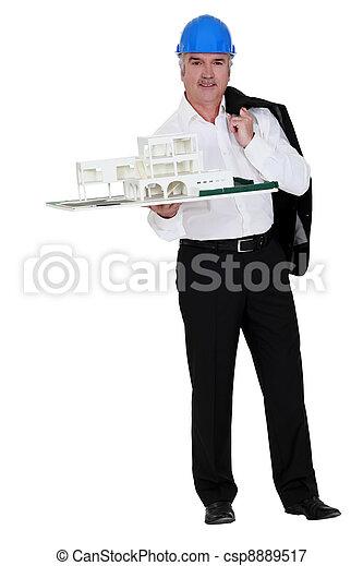Grey-haired property developer - csp8889517