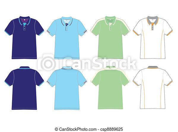 polo shirt design Vector template - csp8889625