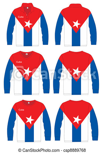 Long-sleeved sport shirt. Cuba - csp8889768