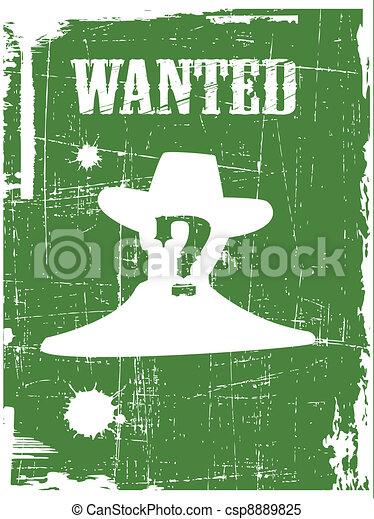 the vector wanted poster image - csp8889825