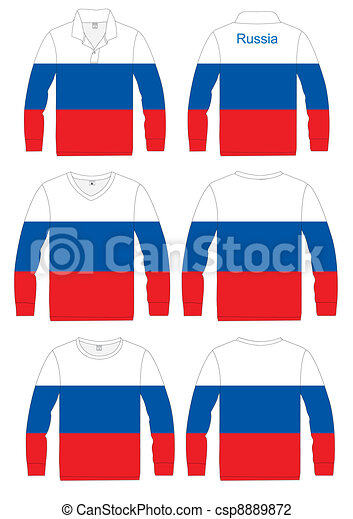 Shirt Long-sleeved Flag Russia - csp8889872