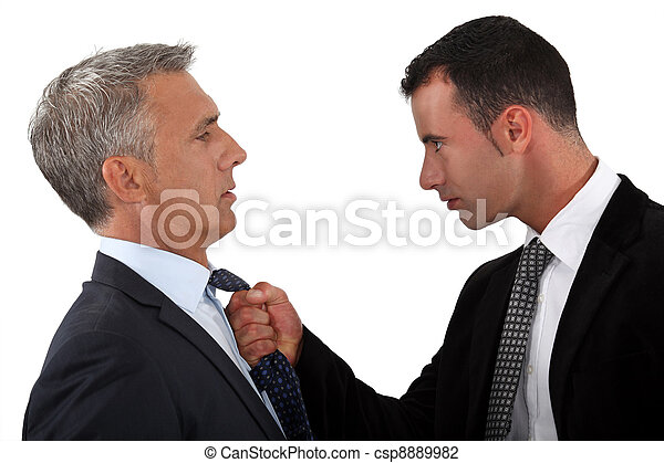 Young man fed-up with his boss - csp8889982