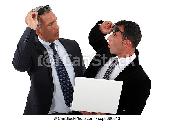 Businessmen recognizing one another - csp8890613