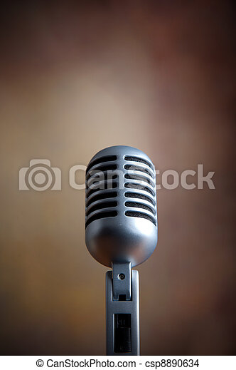 Old retro microphone - csp8890634