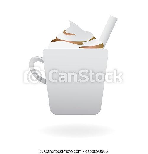 Creamy hot cappuccino - csp8890965