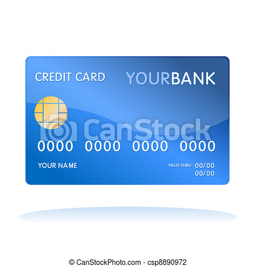 Vector Illustration of Isolated credit card - Illustration of ...