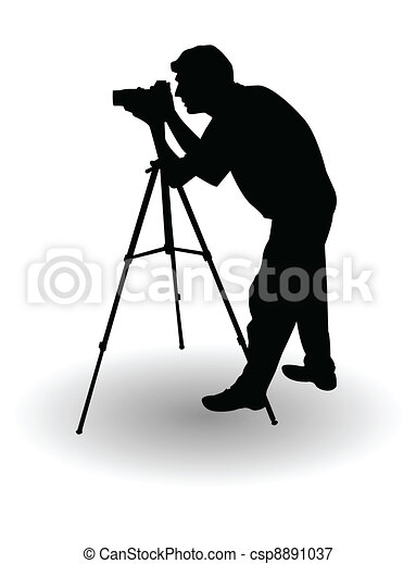 the vector Photographer's silhouette - csp8891037