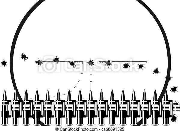 Machine-gun belt - csp8891525