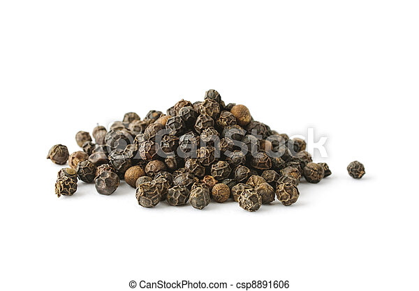 Pile of whole aromatic peppercorn - csp8891606