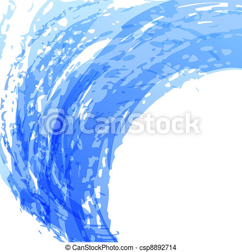 Blue brush background - csp8892714