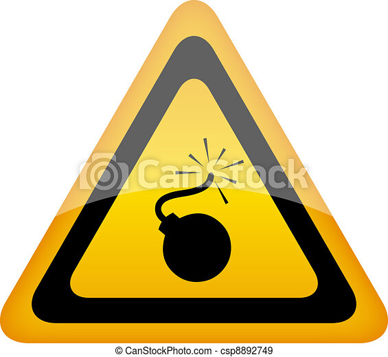 Bomb warning sign - csp8892749