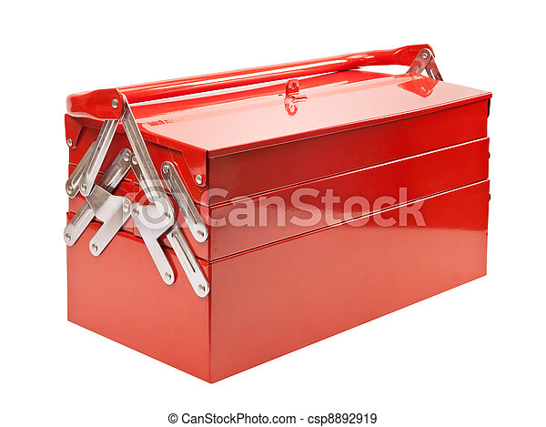 Stock de fotografos de caja de herramientas rojo metal - Cajas para fotografos ...