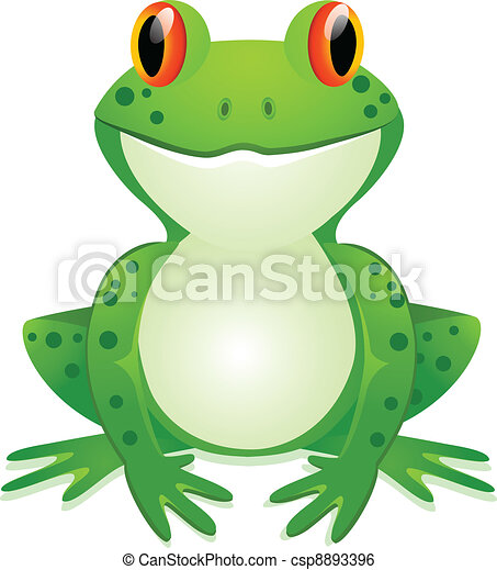Funny toad cartoon - csp8893396