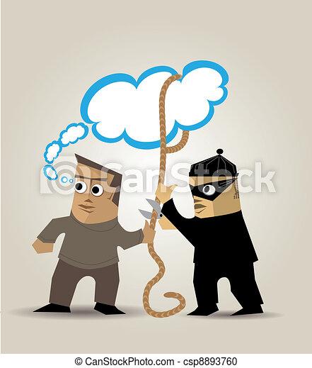 The thief of ideas - csp8893760