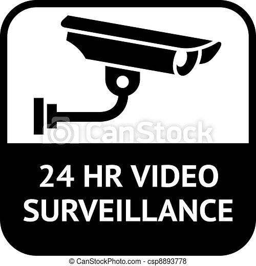 CCTV symbol, video surveillance - csp8893778