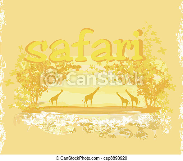African fauna and flora - csp8893920