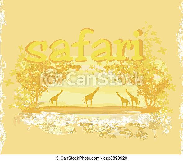 African fauna and flora  - csp8893920
