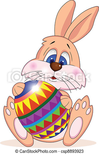 Funny easter rabbit - csp8893923