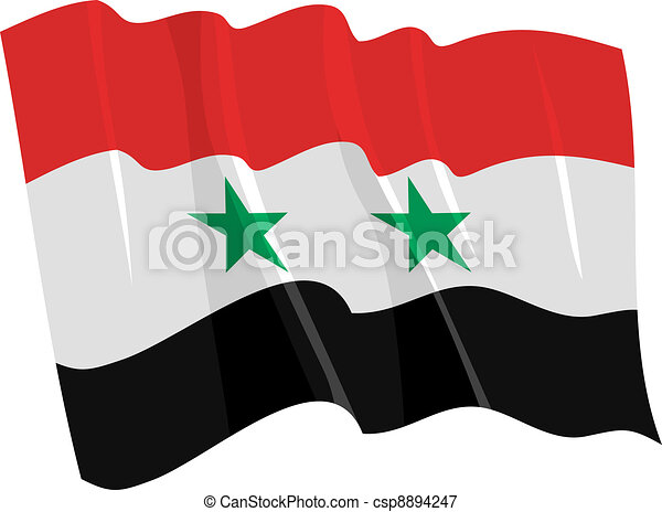 flag of Syria - csp8894247